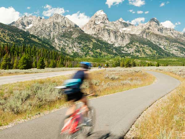Biking near Jackson Hole, WY